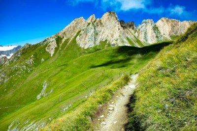 Prägratner Höhenweg Blick auf die Sajathütte