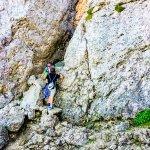 Felsspalten auf dem Weg zum Kampenwandgipfel
