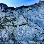 Felswand beim Abstieg