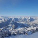 Hochgernhaus Ausblick im Winter